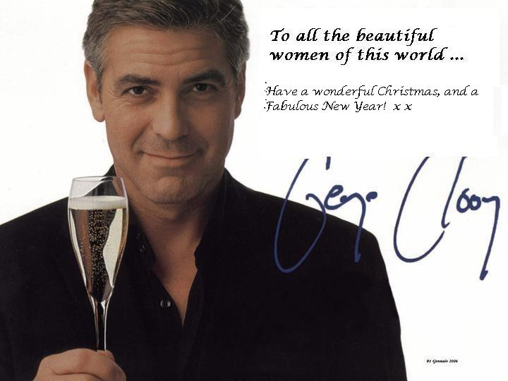 A Christmas card from George Clooney….
