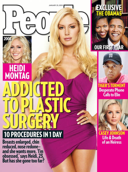heidi montag plastic surgery disaster. started on Heidi Montag.
